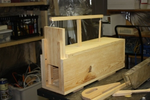 Ken Duck's humane rabbit trap. Nice woodworking, Mr. Duck!