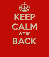 Keep Calm We're Back