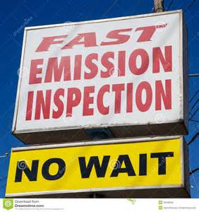 Emission Inspection Sign